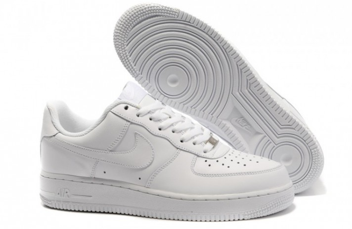 Nike Air Force 1 Low Pure White Leather белые кожаные, фото 3