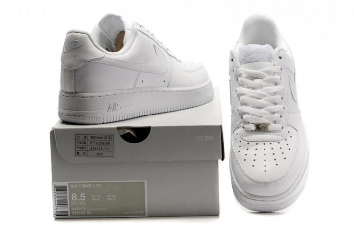 Nike Air Force 1 Low Pure White Leather белые кожаные, фото 8