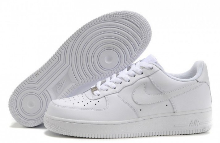 Nike Air Force 1 Low Pure White Leather белые кожаные, фото 4