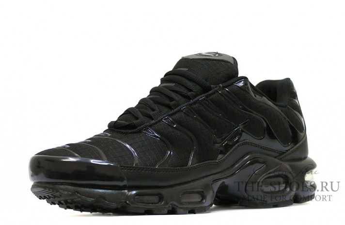 Nike Air Max TN Plus Black stern classic черные, фото 2