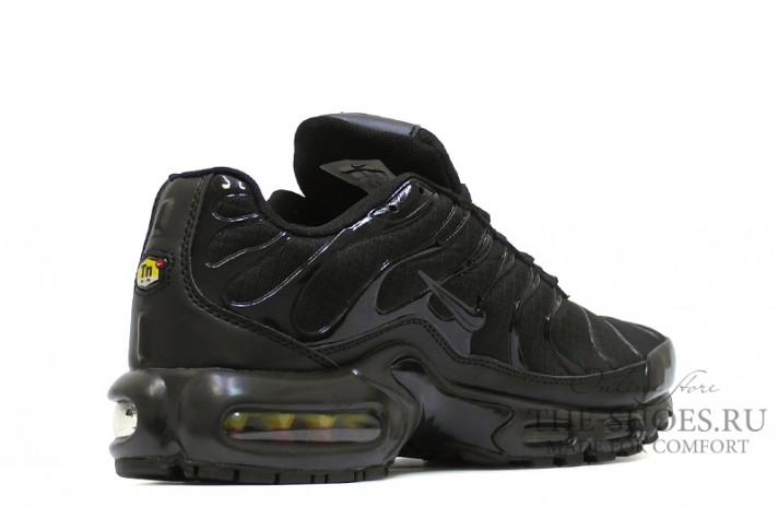 Nike Air Max TN Plus Black stern classic черные, фото 3
