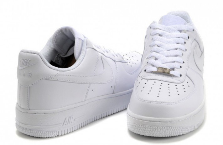Nike Air Force 1 Low Pure White Leather белые кожаные, фото 6