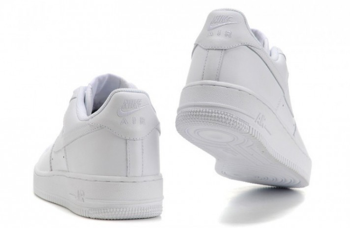 Nike Air Force 1 Low Pure White Leather белые кожаные, фото 7