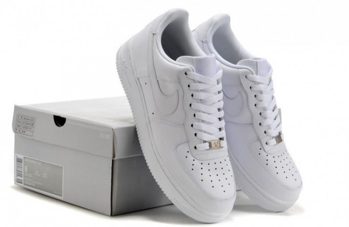 Nike Air Force 1 Low Pure White Leather белые кожаные, фото 9