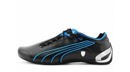 Puma Ferrari Future Cat M2 SF Black Blue черные кожаные