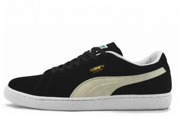 Puma Suede Black White черные