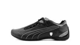 Puma Ferrari Future Cat M2 SF Black Gray черные кожаные