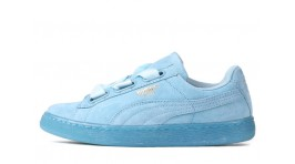 Puma Suede Heart Reset Turquoise бирюзово-мятные