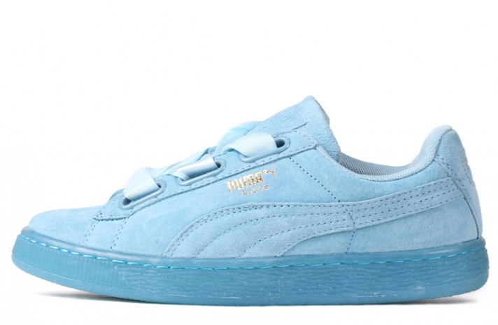 Кроссовки Puma Suede Heart Reset Turquoise