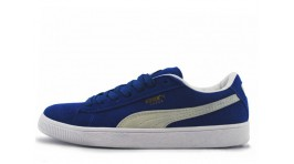 Puma Suede Blue White синие