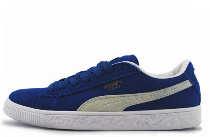 Puma Suede Blue White синие, фото 1