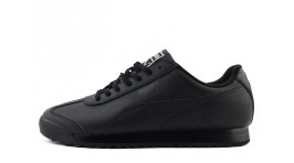 Puma Roma Basic Black Full Leather черные кожаные