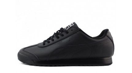Roma КРОССОВКИ МУЖСКИЕ<br/> PUMA ROMA BASIC BLACK FULL LEATHER