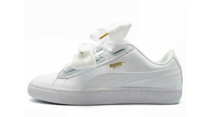 Puma Suede Heart White Leather