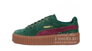 Кроссовки женские Puma Creeper by Rihanna Green Pink