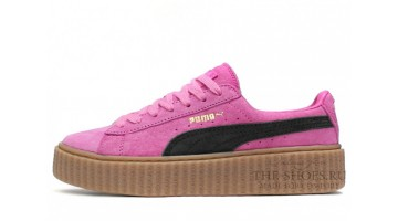 Кроссовки женские Puma Creeper by Rihanna Pink Black