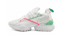 Puma Muse Maia Street 1 White Knockout Pink Green белые