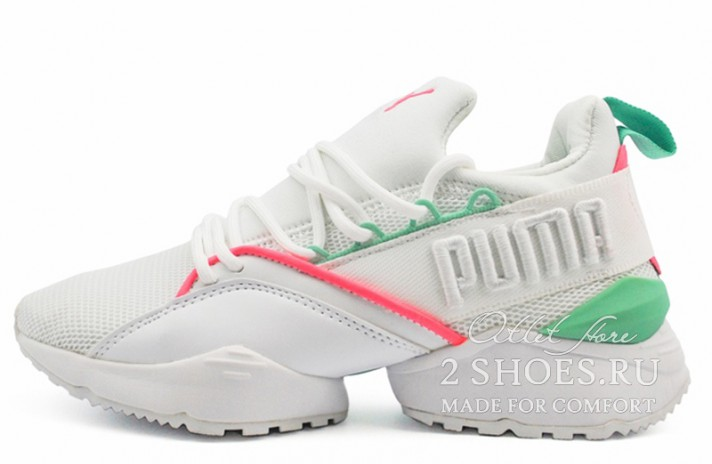 Кроссовки Puma Muse Maia Street 1 White Knockout Pink Green