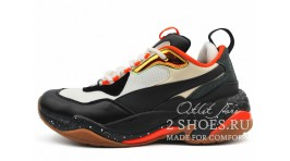 Puma Thunder Electric Black White Orange черные