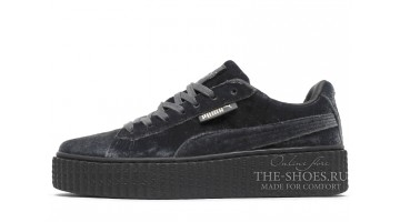 Кроссовки женские Puma Creeper by Rihanna Grey Velvet