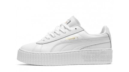 Creeper КРОССОВКИ ЖЕНСКИЕ<br/> PUMA CREEPER BY RIHANNA PURE WHITE LEATHER
