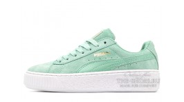 Puma Suede Platform Light Green Mint бирюзово-мятные