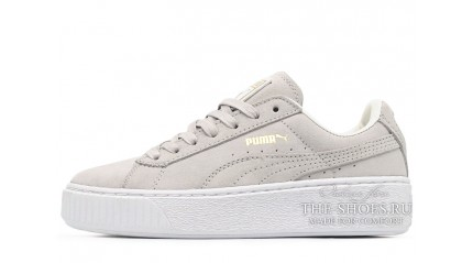 Puma Suede Platform Gray Light