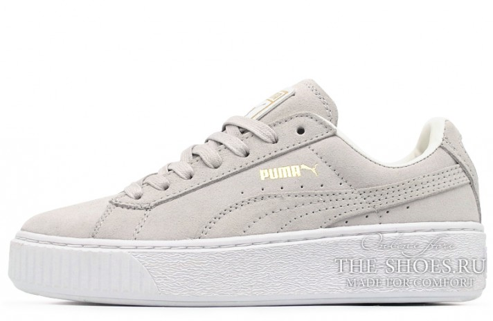Puma Suede Platform Gray Light серые