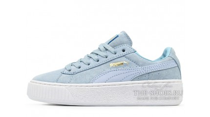 Puma Suede Platform Blue Light