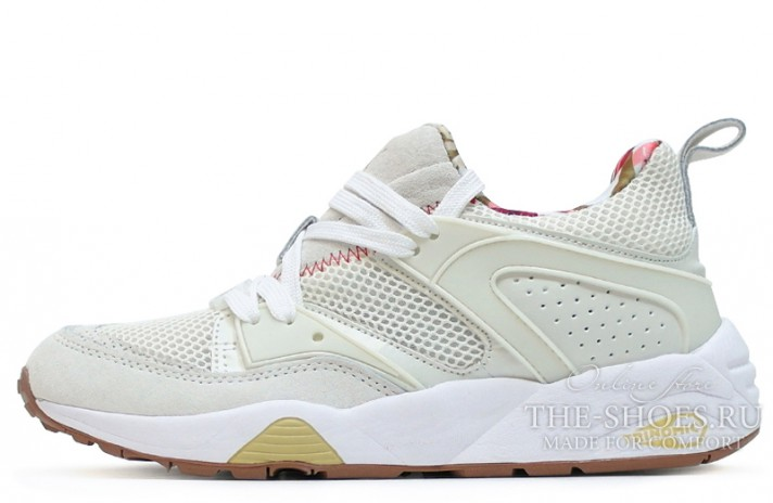Puma Trinomic Blaze of Glory x Careaux x Whisper White белые