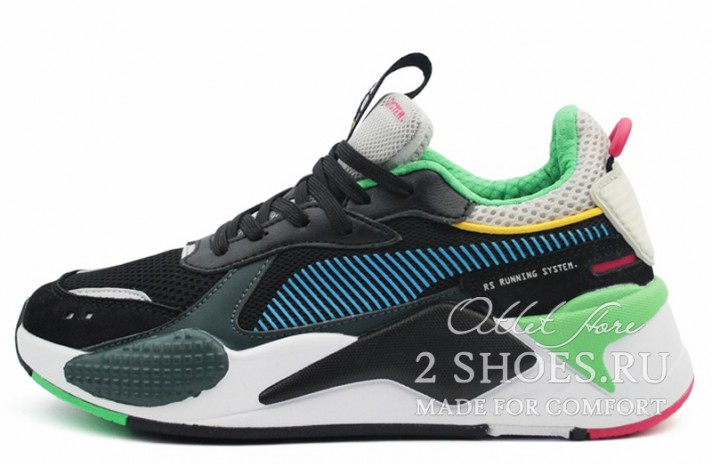 Puma RS-X Toys Black Blue Atoll черные, фото 1
