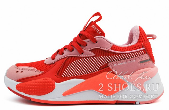 Puma RS-X Toys Bright Peach High Risk Red красные