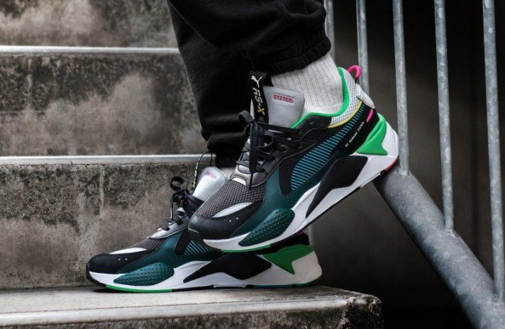 Puma RS-X Toys Black Blue Atoll черные, фото 5