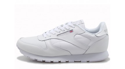 Classic КРОССОВКИ МУЖСКИЕ<br/> REEBOK CLASSIC LEATHER PURE WHITE