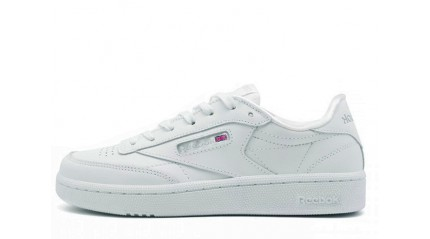 Club КРОССОВКИ ЖЕНСКИЕ<br/> REEBOK CLUB C85 PURE WHITE LEATHER