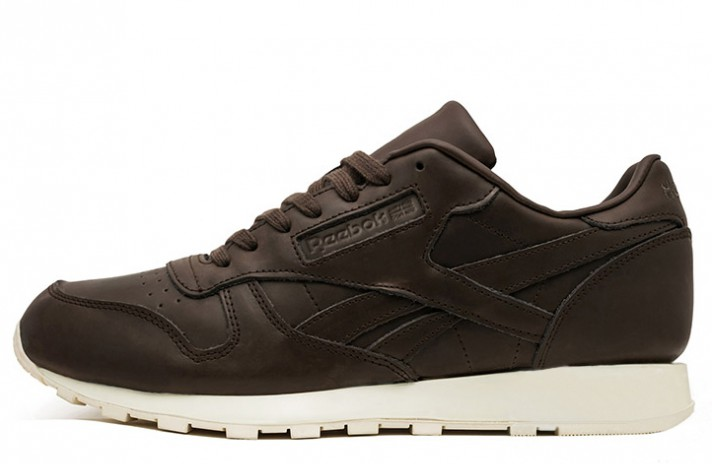 Reebok Classic Old Meets Brown Leather коричневые кожаные
