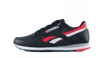 Кроссовки Мужские Reebok Classic Leather Blue Dark Red White