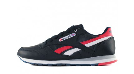 Reebok Classic Leather Blue Dark Red White