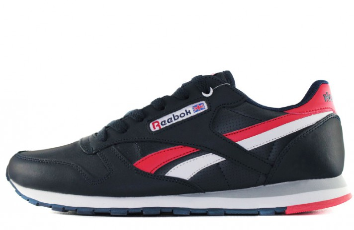 Кроссовки Reebok Classic Leather Blue Dark Red White