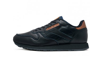 Classic КРОССОВКИ МУЖСКИЕ<br/> REEBOK CLASSIC BLACK BROWN LEATHER