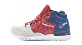 Reebok GL 6000 Mid Gray Red Blue красные серые