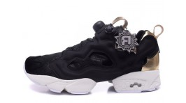 Reebok Insta pump Fury Black Gold Details черные