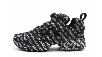 Кроссовки мужские Reebok Instapump Fury Vetements Black