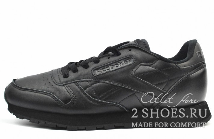 Reebok Classic Black Leather черные кожаные