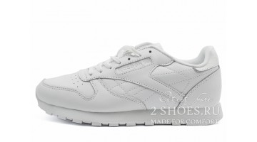 Кроссовки Женские Reebok Classic Leather Pure White