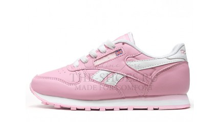 Reebok Classic Leather Baby Pink White
