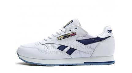 Classic КРОССОВКИ МУЖСКИЕ<br/> REEBOK CLASSIC LEATHER WHITE BLUE