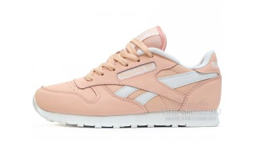 Кроссовки Женские Reebok Classic Leather peach Light