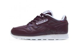 Reebok Classic Leather Red Grapes бордовые кожаные