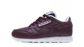 Кроссовки Женские Reebok Classic Leather Red Grapes
